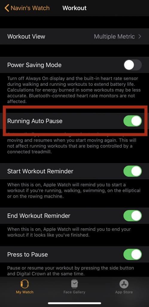 Pause Your Running