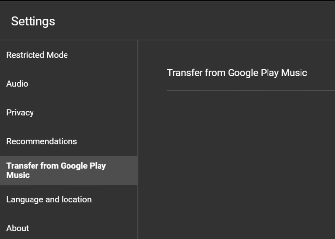 Transfer from Google Play Music